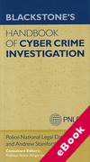 Cover of Blackstone's Handbook of Cyber Crime Investigation (eBook)