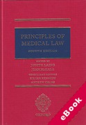 Cover of Principles of Medical Law (eBook)