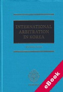 Cover of International Arbitration in Korea (eBook)