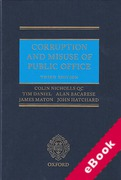 Cover of Corruption and Misuse of Public Office (eBook)
