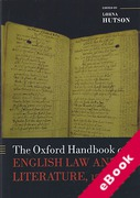 Cover of The Oxford Handbook of English Law and Literature, 1500-1700 (eBook)