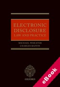 Cover of Electronic Disclosure Law and Practice (eBook)