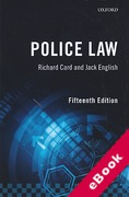 Cover of Police Law (eBook)