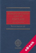 Cover of European Union Law of State Aid (eBook)