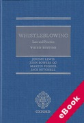 Cover of Whistleblowing: Law and Practice (eBook)