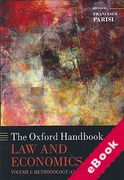 Cover of The Oxford Handbook of Law and Economics Volume 1: Methodology and Concepts (eBook)