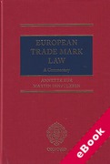 Cover of European Trade Mark Law: A Commentary (eBook)
