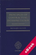 Cover of Principles of Contractual Interpretation (eBook)