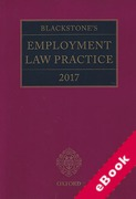 Cover of Blackstone's Employment Law Practice 2017 (eBook)