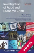 Cover of Investigation of Fraud and Economic Crime (eBook)