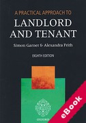 Cover of A Practical Approach to Landlord and Tenant (eBook)