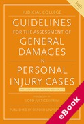 Cover of Judicial College Guidelines for the Assessment of General Damages in Personal Injury Cases (eBook)