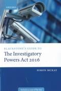 Cover of Blackstone's Guide to the Investigatory Powers Act 2016