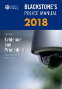 Cover of Blackstone's Police Manual 2018 Volume 2: Evidence & Procedure