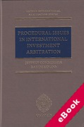 Cover of Procedural Issues in International Investment Arbitration (eBook)