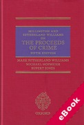Cover of Millington and Sutherland Williams on The Proceeds of Crime (eBook)