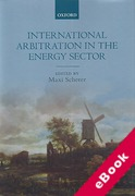 Cover of International Arbitration in the Energy Sector (eBook)