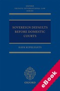 Cover of Sovereign Defaults Before Domestic Courts (eBook)