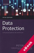 Cover of Data Protection: A Practical Guide to UK and EU Law (eBook)