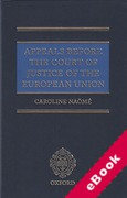 Cover of Appeals Before the Court of Justice of the European Union (eBook)
