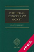 Cover of The Legal Concept of Money (eBook)