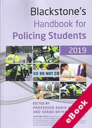 Cover of Blackstone's Handbook for Policing Students 2019 (eBook)