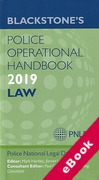 Cover of Blackstone's Police Operational Handbook 2019: Law (eBook)