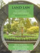 Cover of Land Law: Text Cases and Materials