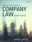 Cover of Mayson, French & Ryan on Company Law 2018-2019