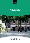 Cover of Bar Manual: Advocacy