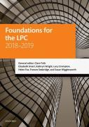 Cover of LPC: Foundations for the LPC 2018-2019