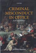 Cover of Criminal Misconduct in Office: Law and Politics