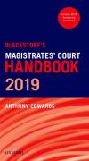 Cover of Blackstone's Magistrates' Court Handbook 2019