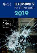 Cover of Blackstone's Police Manual 2019 Volume 1: Crime