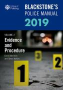 Cover of Blackstone's Police Manual 2019 Volume 2: Evidence & Procedure