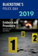 Cover of Blackstone's Police Q&A: Evidence & Procedure 2019