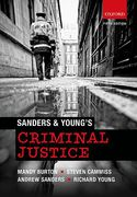 Cover of Sanders & Young's Criminal Justice