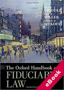 Cover of The Oxford Handbook of Fiduciary Law (eBook)