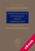 Cover of Expropriation in Investment Treaty Arbitration (eBook)