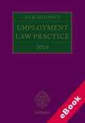 Cover of Blackstone's Employment Law Practice 2019 (eBook)