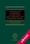 Cover of McKnight and Zakrzewski On The Law of Loan Agreements and Syndicated Lending (eBook)