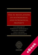 Cover of The EU Regulations on Matrimonial and Patrimonial Property (eBook)