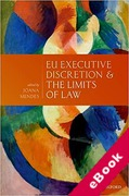 Cover of EU Executive Discretion and the Limits of Law (eBook)