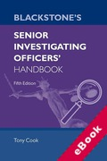 Cover of Blackstone's Senior Investigating Officer's Handbook (eBook)