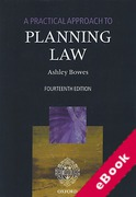 Cover of A Practical Approach to Planning Law (eBook)