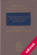 Cover of Tribunal Secretaries in International Arbitration (eBook)