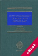 Cover of Cryptocurrencies in Public and Private Law (eBook)