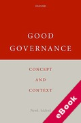 Cover of Good Governance: Concept and Context (eBook)
