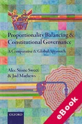Cover of Proportionality Balancing and Constitutional Governance: A Comparative and Global Approach (eBook)