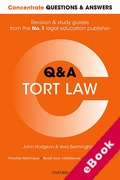Cover of Concentrate Questions and Answers: Tort Law (eBook)